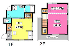 [一戸建] 埼玉県所沢市小手指南1丁目 の賃貸【/】の間取り