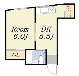 エクセルハイツ2[4階]の間取り