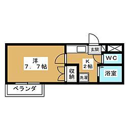 アンプルールブワ下梅屋[2階]の間取り