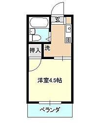 ベイルーム下倉田[2階]の間取り