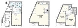 建物プラン例(1号地)建物価格 1580万円、建物面積 87.47?(車庫面積7.83?含)