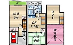 ルールドハウス南桜塚[1階]の間取り