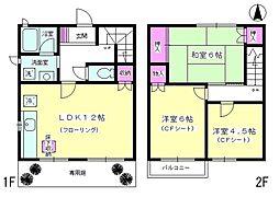 [テラスハウス] 神奈川県厚木市林5丁目 の賃貸【神奈川県 / 厚木市】の間取り
