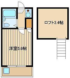 東京都練馬区大泉町5丁目の賃貸アパートの間取り