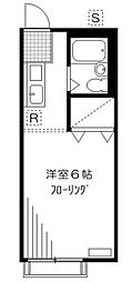 神奈川県横浜市保土ケ谷区桜ケ丘2丁目の賃貸アパートの間取り