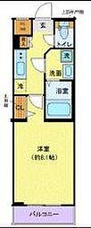 東急田園都市線 池尻大橋駅 徒歩10分の賃貸マンション 2階1Kの間取り
