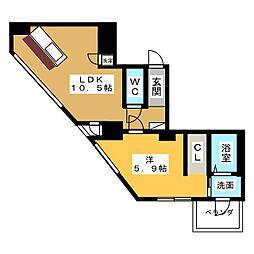 SK BUILDING−501[9階]の間取り