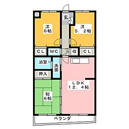 ラフォーレ23[3階]の間取り