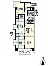 コンフォトゥール[7階]の間取り
