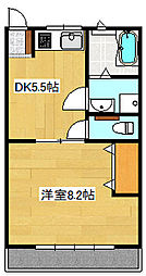 ソワサントUTRI[2階]の間取り