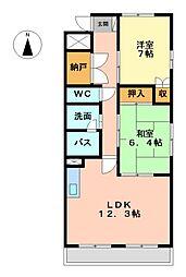 クレアール壱番館[3階]の間取り