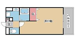 RISING SUN元町[201号室]の間取り