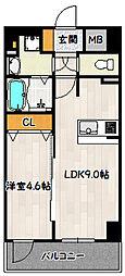 神戸市海岸線 ハーバーランド駅 徒歩4分の賃貸マンション 14階1LDKの間取り