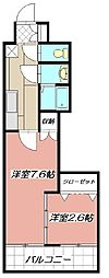 デザイナープリンセス77[702号室]の間取り