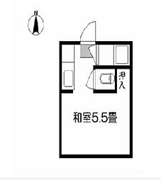 コーポせと[2階]の間取り