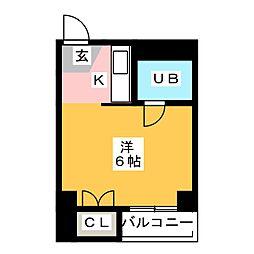パルムシャロン[4階]の間取り