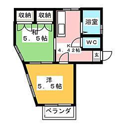 メゾン小松島[2階]の間取り