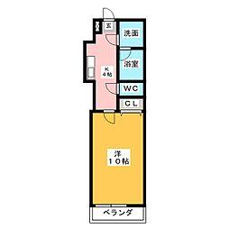 ディベロップハイツ[1階]の間取り