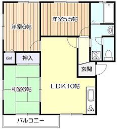 東京都東村山市多摩湖町3丁目の賃貸アパートの間取り