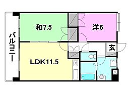 UTARA  HOUSE[502 号室号室]の間取り