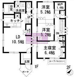 [一戸建] 神奈川県横浜市南区永田東2丁目 の賃貸【/】の間取り