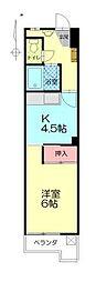 中島第2ビル[203号室]の間取り