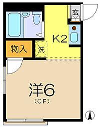 マリンコーポ2[2階]の間取り