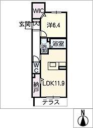仮)ベレオ八熊2丁目[1階]の間取り