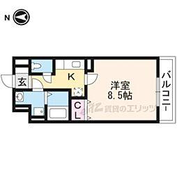 JR東海道・山陽本線 摂津富田駅 徒歩11分の賃貸マンション 3階1Kの間取り