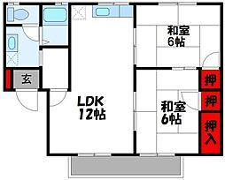 セジュール福間[(タダシ)A201号室]の間取り