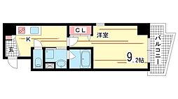 兵庫県神戸市中央区磯上通1丁目の賃貸マンションの間取り