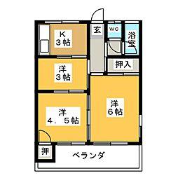 辻アパート[2階]の間取り