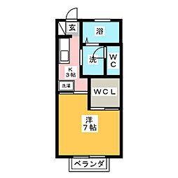 エクセレントTAKA B[2階]の間取り