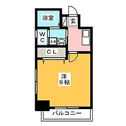 エスステージ箱崎[7階]の間取り
