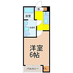 プラージュ柴田[1階]の間取り