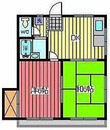 ヒカリハイツ[2階]の間取り
