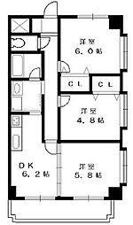 戸塚区品野町 モンヴェール東戸塚110号室[1階]の間取り