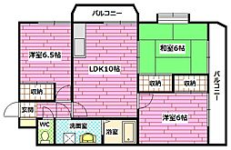 フォレスト相田[1階]の間取り