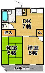 徳屋マンション[3階]の間取り