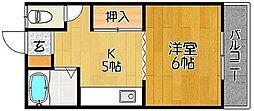 エクセル・N[1-D号室]の間取り