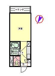コーポセワナ[2階]の間取り