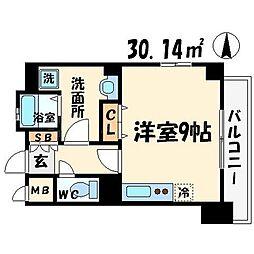 レジェンドール大阪天満Gレジデンス[4階]の間取り