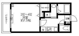 都営三田線 西巣鴨駅 徒歩2分の賃貸マンション 4階1Kの間取り