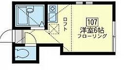 神奈川県横浜市金沢区大道2丁目の賃貸アパートの間取り