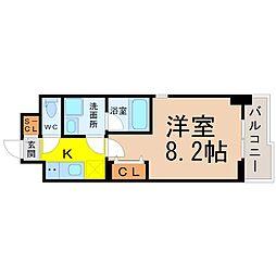 レジデンスSUN.K[9階]の間取り