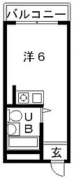 コスモメイト上汐町[4階]の間取り