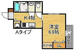 UNITY TAMADE[3階]の間取り
