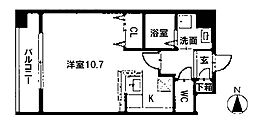 愛知県名古屋市昭和区阿由知通4の賃貸マンションの間取り