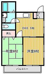 神奈川県川崎市幸区小倉2丁目の賃貸アパートの間取り