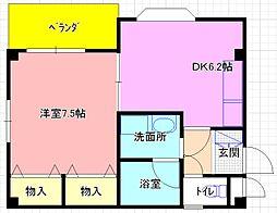 若江岩田駅徒歩14分 メイセイ西岩田[3号室]の間取り